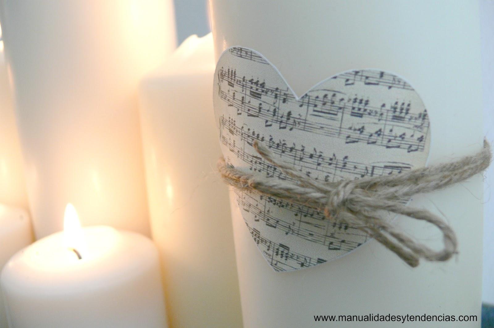 Manualidades y tendencias decorar con velas candle - Decorar con velas ...