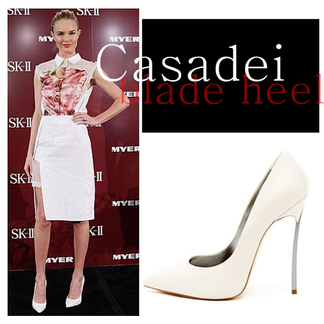 Kate Bosworth wearing Casadei Blade Heel