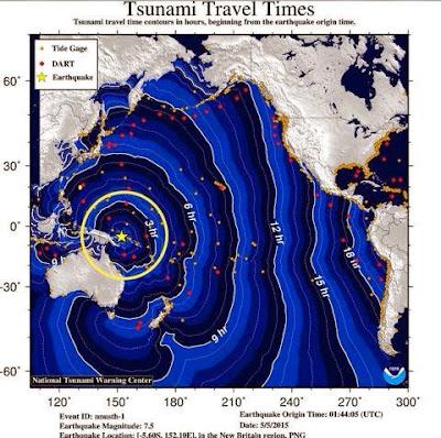 Alerta de tsunami 05 de Mayo 2015