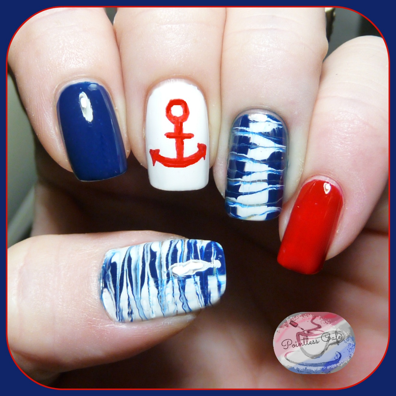 The Digit-al Dozen Does Summer: Day Two - Nautical Nail Art ...