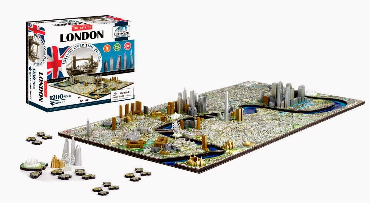 Puzzle 4D de la ciudad de Londres