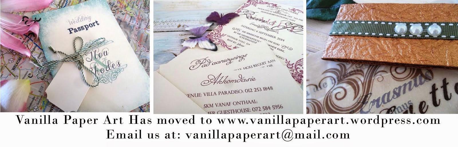 Vanilla Paper Art