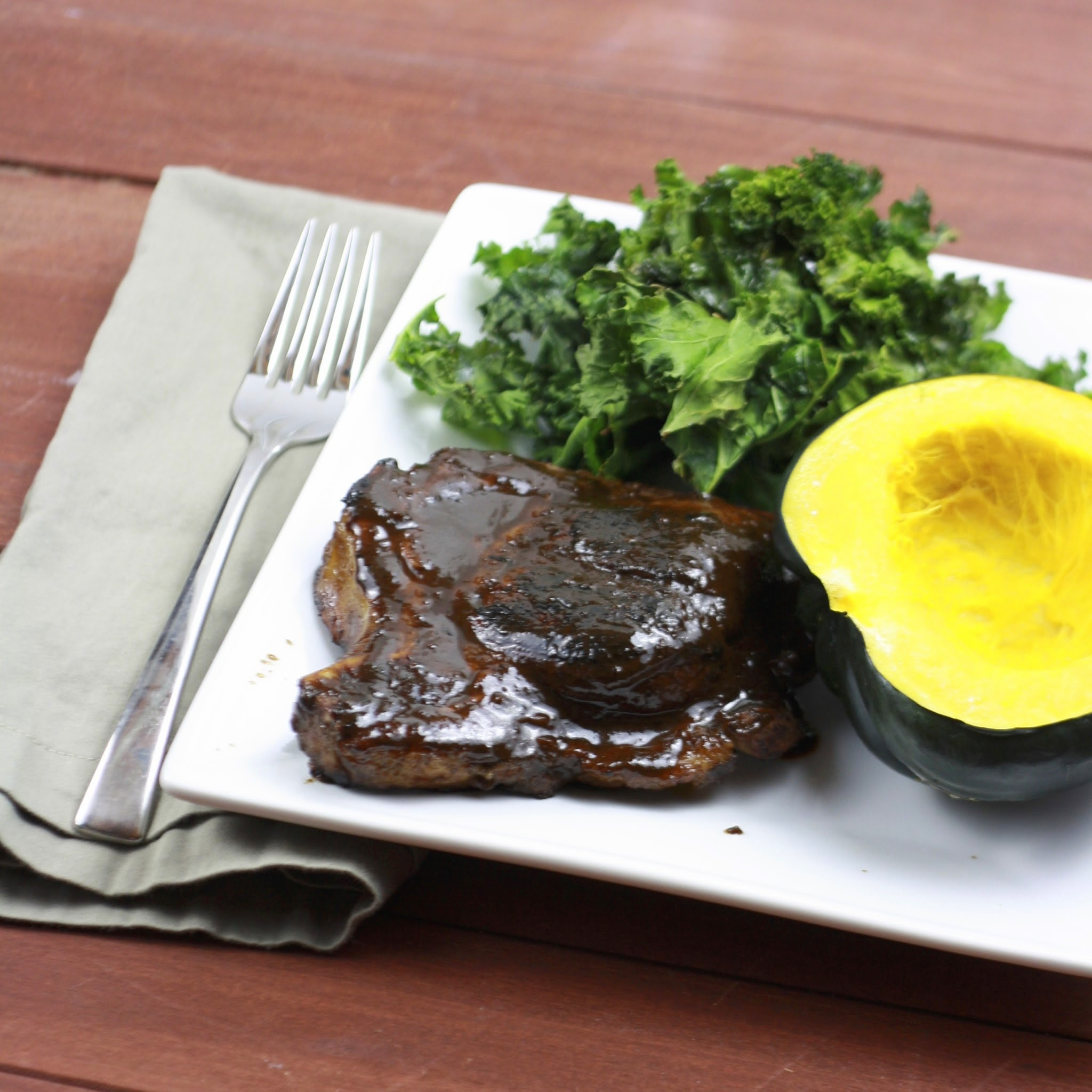 Molasses and Coffee Pork Chops