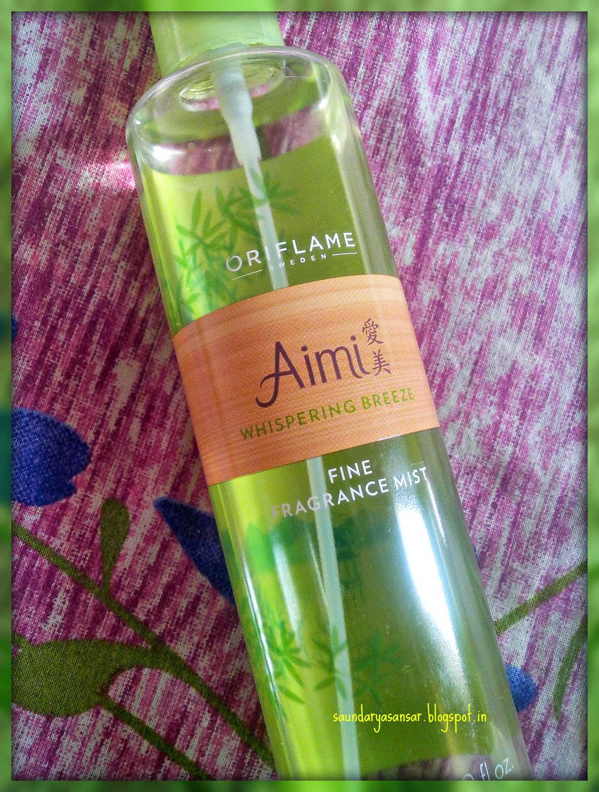 Oriflame Fragrance Mist - Aimi Whispering Breeze review