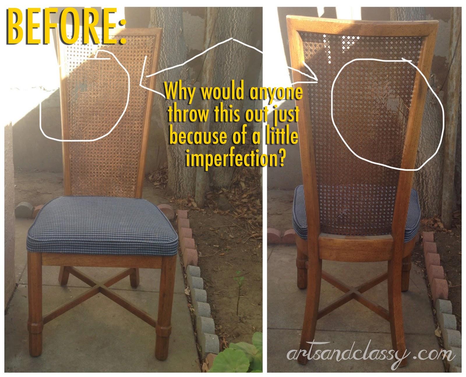 Crafty Allie DIY Curb Side Cane Back Chair Flip