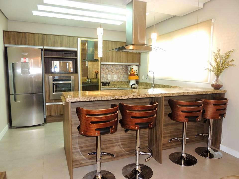 Construindo minha casa clean 21 cozinhas americanas for Modelos de cocinas americanas modernas