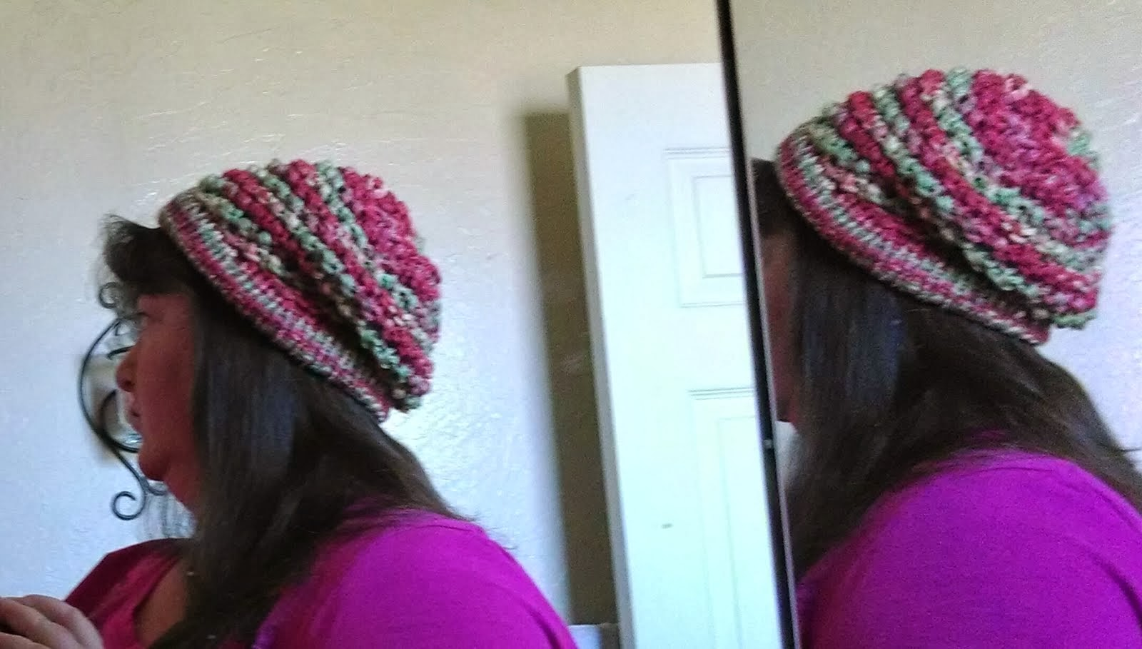 Welcome to Scrappin\' Cat\'s Creative Endeavors: Loom knit slouchy beanie