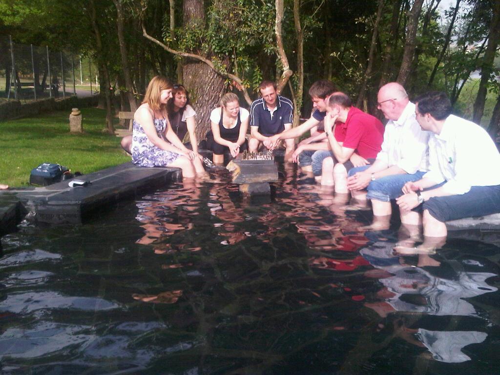 Termas outariz ourense pediluvio for Pediluvio piscina