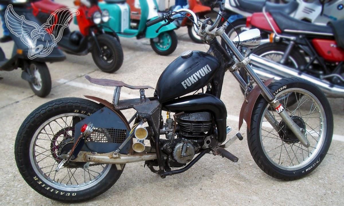 suzuki 125 enduro rat bobber | blue star motorcycles