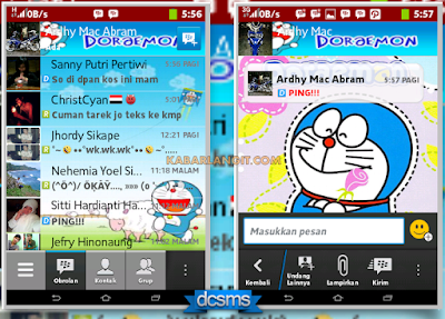 BBM MOD Tema Doraemon Versi 2.2.1.45 Apk Gratis
