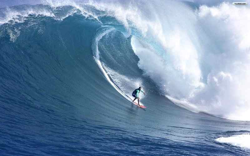 wave surfing