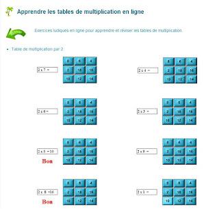 Le blog de monsieur valancony des sites pour apprendre - Apprendre les tables de multiplication ...