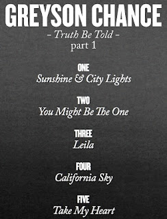 Greyson Chance Truth Be Told Track List