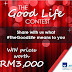 AXA AFFIN Life Insurance #TheGoodLife Contest : Win Prizes worth RM3,000