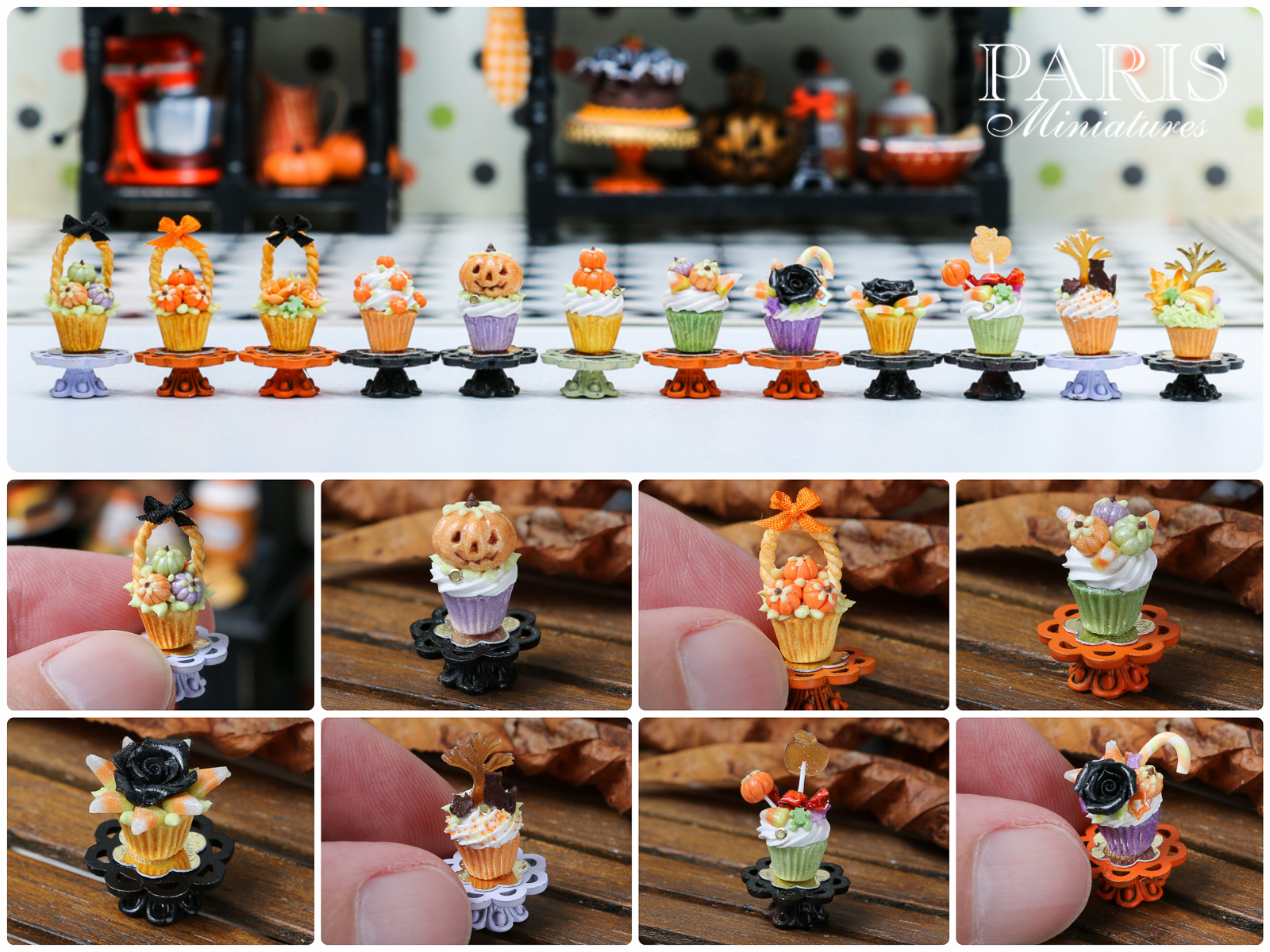 Miniature cupcakes for Halloween / Autumn / Fall