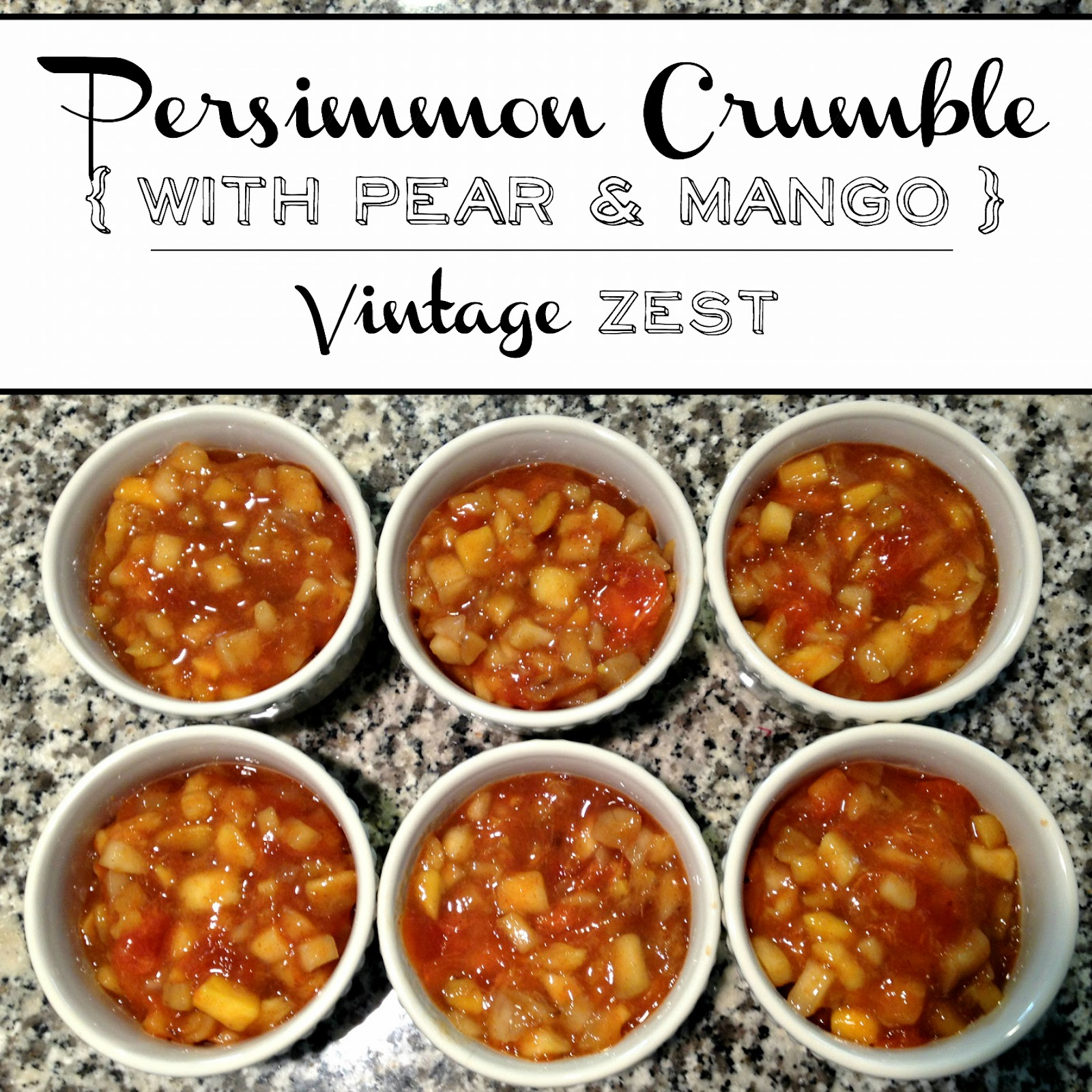 Persimmon, Pear, and Mango Crumble on Diane's Vintage Zest!  #recipe #healthy #fruit