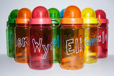 personalized water bottle party favors