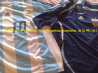 camiseta Argentina en 2002