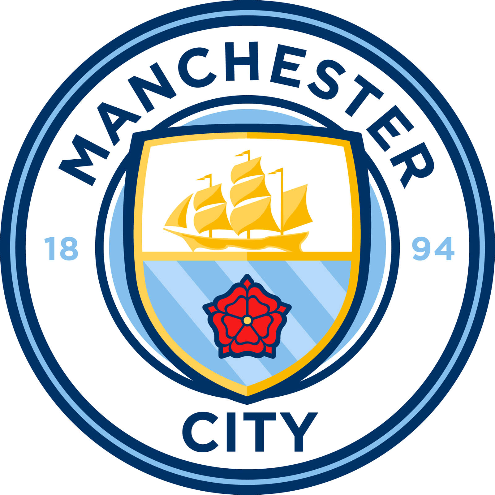 This is the new Manchester City crest, set to be used from the start ...