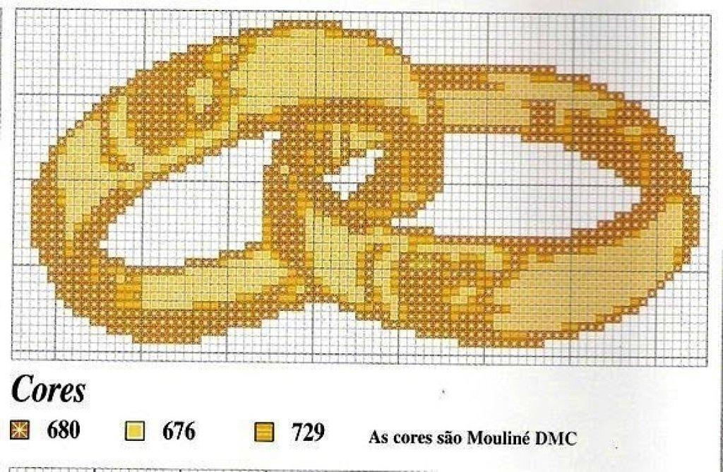 Схема вышивки колец крестом