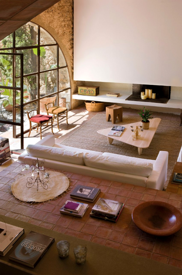 Hotel rural de luxe cerca de Barcelona salon y comedor integrado