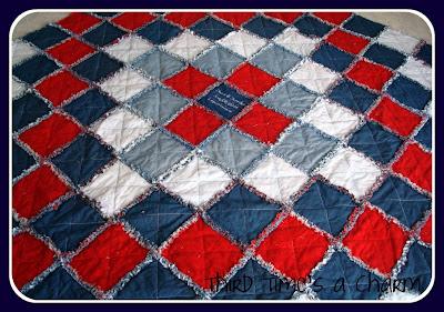 Third Time's a Charm: Denim Rag Quilt : rag quilts flannel - Adamdwight.com