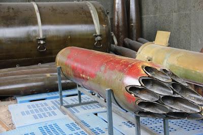 Rocket in dem Museum des Vietnam-Krieges