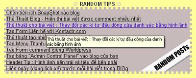 hiển thị ngẫu nhiên bài viết dạng danh sách trong blogger theo các label cố định