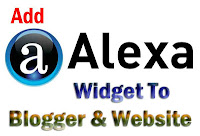 Alexa Widget for blogger-website