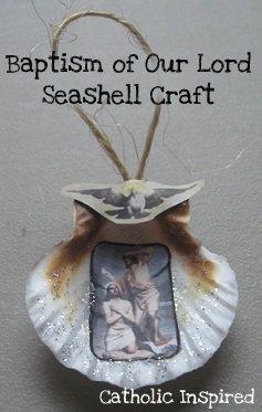 Jesus baptism john the baptist seashell ornament for John the baptist craft for kids