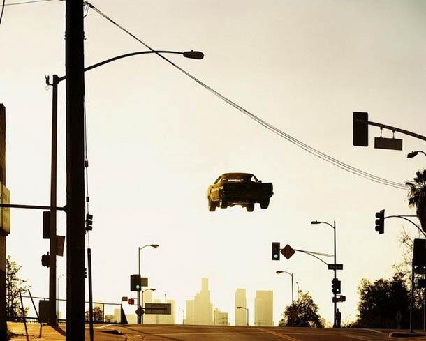 Flying Cars - os carros voadores - manipulação fotografica digital de Matthew Porter