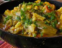 Legumes e Grão-de-Bico ao Curry (vegana)