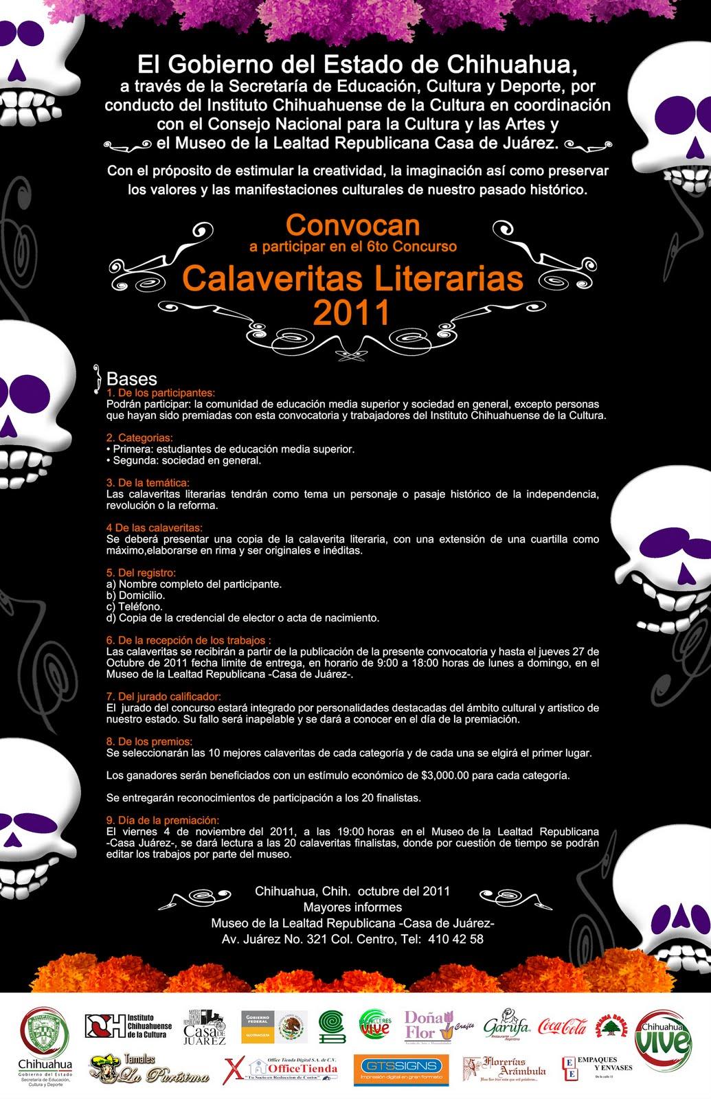 Tramoyam3 concurso de calaveritas literarias chihuahua for Concurso para maestros