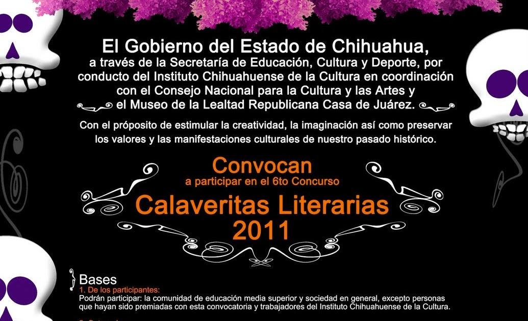 Tramoyam3 concurso de calaveritas literarias chihuahua for Convocatoria de maestros