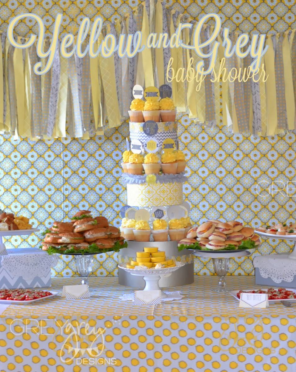 Baby Shower Themes And Colors ~ Greygrey designs my parties yellow and grey bundle of