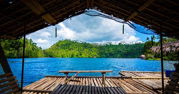 Lake Pandin in Laguna Philippines
