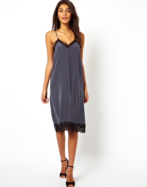 lace edge slip dress