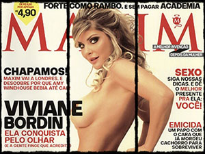 Fotos de Viviane Bordin na Maxim Brasil