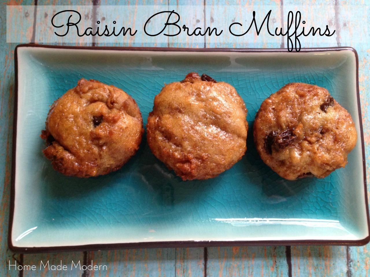 Six-Week Raisin Bran Muffins