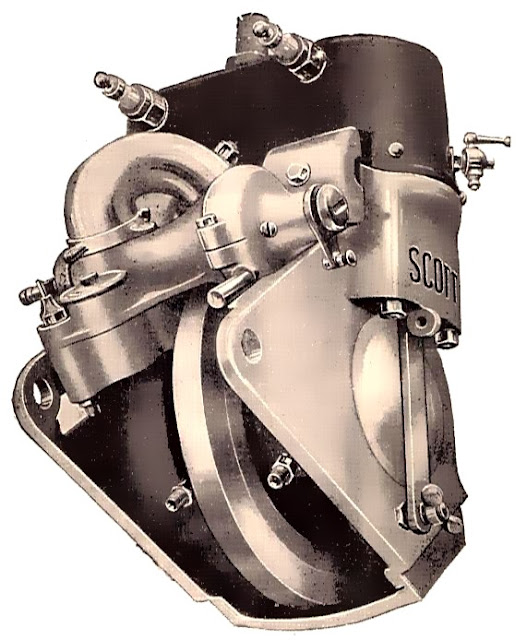Scott Two-Stroke Parallel Twin Engine