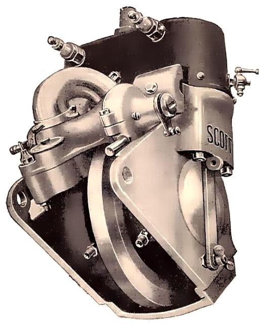 Scott Two-Stroke Parallel Twin Engine