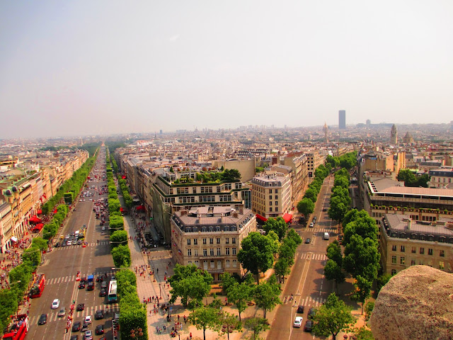 View from top of Arc de Triomphe Paris