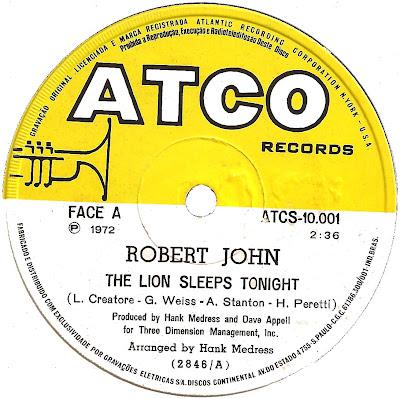 Robert John - The Lion Sleeps Tonight / Janet