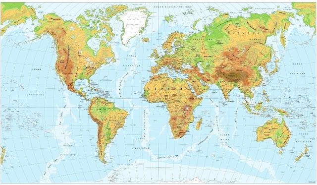 Mapas Escudos Banderas: Planisferio Mapa Mudo Físico y Político