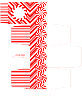 Printable peppermint gift box