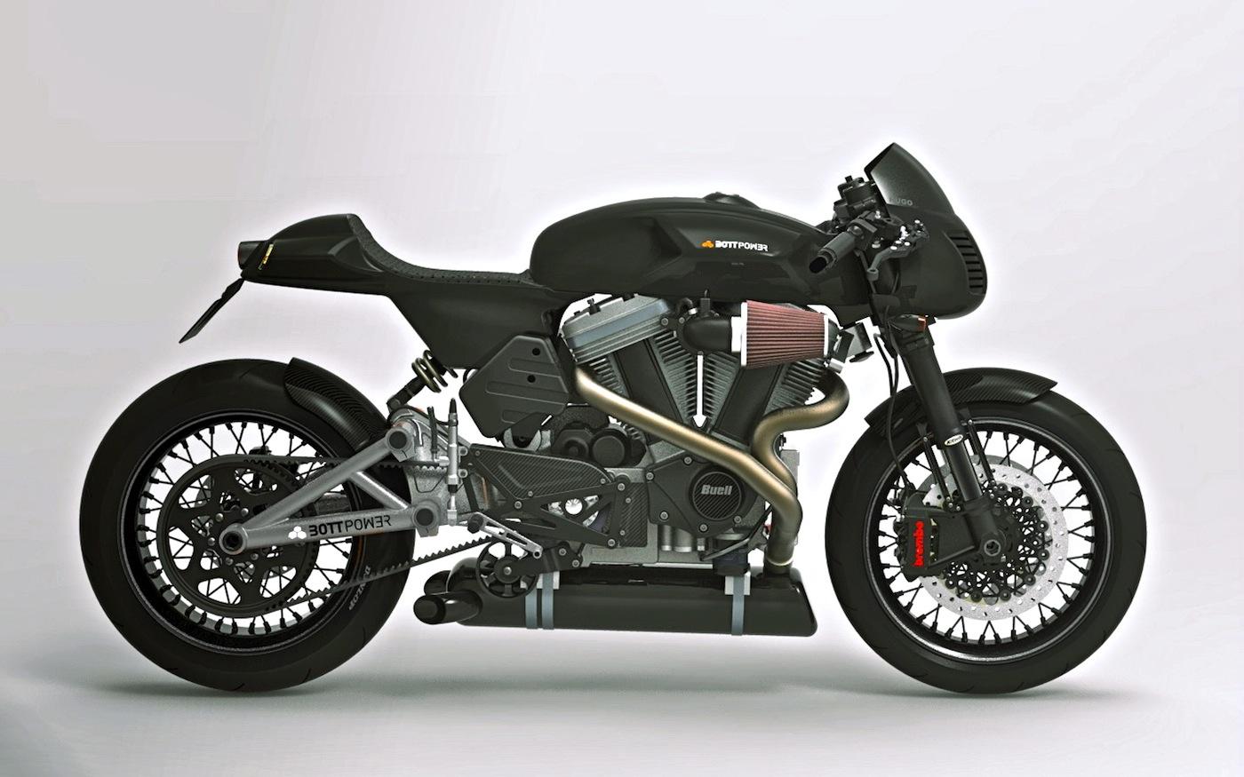 bott design cafe racer concept inazuma caf racer. Black Bedroom Furniture Sets. Home Design Ideas
