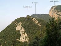 Vistes del Castell e Roset, La Gotzera i el Cap de Tastanós des del mirador del Camí de l'Aigua