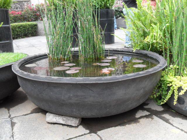 Un estanque con un viejo neumático