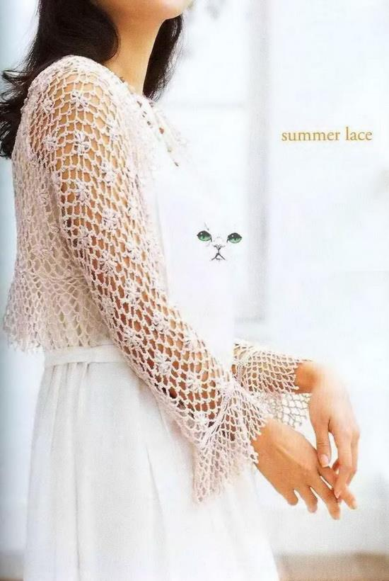 Crochet Sweaters Crochet Pattern Of Soft Lace Shrug For Summer