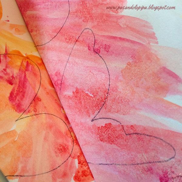 Dibujar silueta mariposa